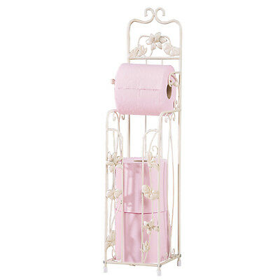 Collections Etc Water Lily Toilet Paper Holder