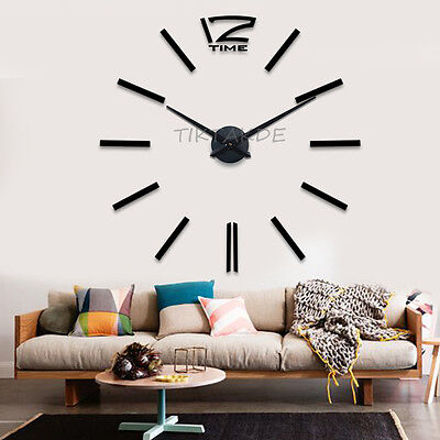 design wand uhr wohnzimmer wanduhr wandtattoo deko xxl 3d r mische zahlen eur 24 90 picclick de. Black Bedroom Furniture Sets. Home Design Ideas