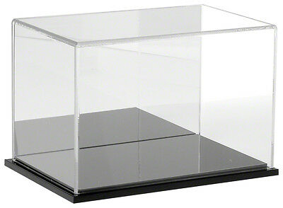 """Plymor Acrylic Display Case with Black Base (Mirror Back), 9"""" W x 6"""" D x 6"""" H"""