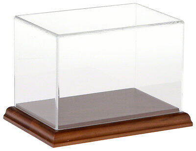 "Plymor Acrylic Display Case with Hardwood Base, 6"" W x 4"" D x 4"" H"