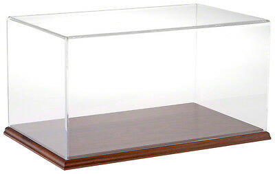 "Plymor Acrylic Display Case with Hardwood Base, 16"" W x 10"" D x 8"" H"