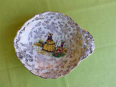VINTAGE**JAMES KENT** BUTTER or JAM  DISH**CRINOLINE LADY 3087