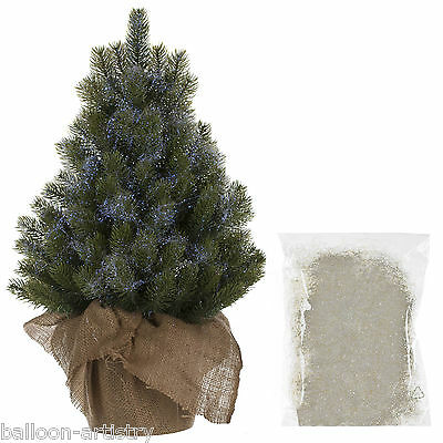 10g Christmas Party Opal Blue Iridescent Superfine Tinsel Shred Tree Decoration