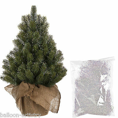 10g Christmas Party GREEN Iridescent Superfine Tinsel Shred Tree Decoration