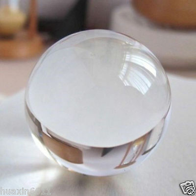 ASIAN QUARTZ Clear Crystal Ball Sphere 40mm--110mm +stand+gift