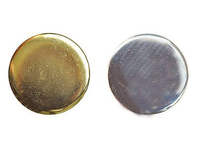Quality Plain Metal Polished Blazer Buttons with Shank in Gold or Silver
