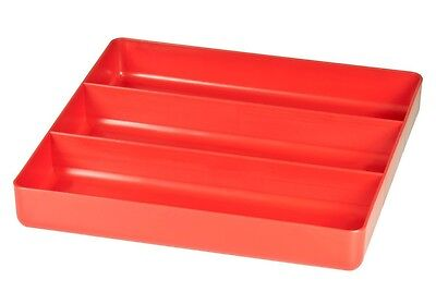 Ernst 5020   3 Compartment Toolbox Tray Organizer - Red