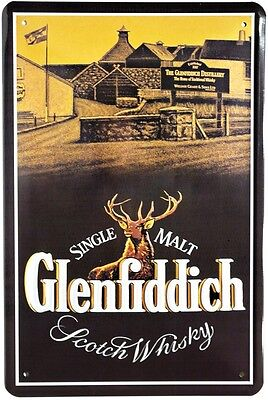 Glenfiddich Scotch Whisky Reklame Blechschild 20x30 Schild 506