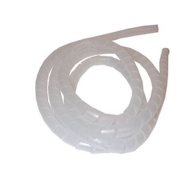 10m Spiral Cable Tidy Kit 12mm in Clear PVC for Home or Office Safety [006119]