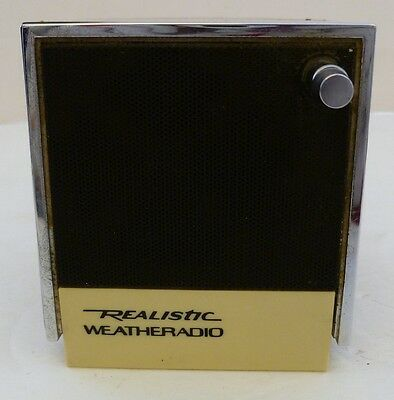 Realistic WEATHERADIO, Weather Radio Cat 12-181 Cube, 162.4-162.55 MHZ, Vtg