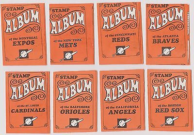 1969 Topps Stamp Album Lot of (10) Different Team Albums