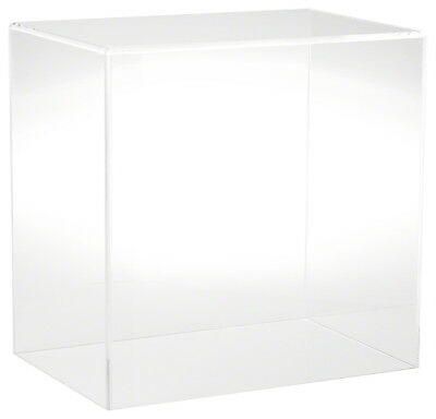 "Plymor Brand Clear Acrylic Display Case with No Base, 12"" W x 8"" D x 12"" H"