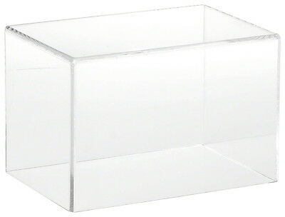 "Plymor Brand Clear Acrylic Display Case with No Base, 6"" W x 4"" D x 4"" H"