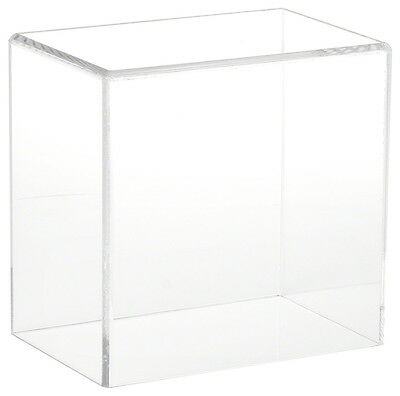 "Plymor Brand Clear Acrylic Display Case with No Base, 6"" W x 4"" D x 6"" H"