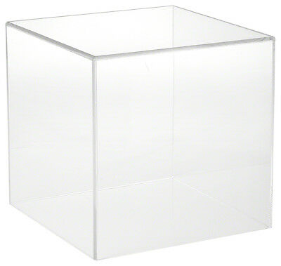 "Plymor Brand Clear Acrylic Display Case with No Base, 10"" x 10"" x 10"""