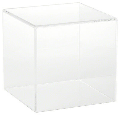 """Plymor Brand Clear Acrylic Display Case with No Base, 6"""" x 6"""" x 6"""""""