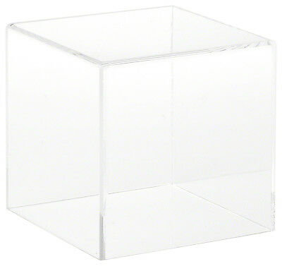 "Plymor Brand Clear Acrylic Display Case with No Base, 4"" x 4"" x 4"""