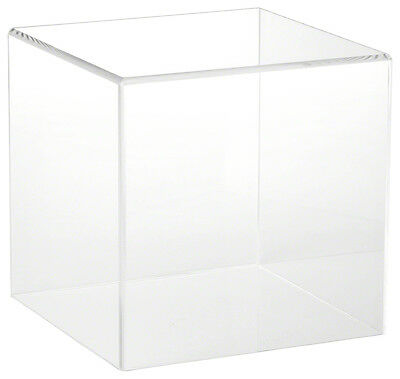 """Plymor Brand Clear Acrylic Display Case with No Base, 8"""" x 8"""" x 8"""""""