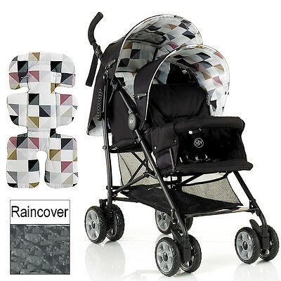 New My Child Geo Sienta Duo Tandem Pushchair Double Baby Stroller With Raincover