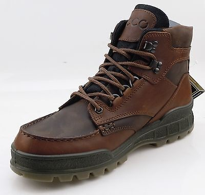 ECCO Track II Mid Mens Casual Hiking Boots GORE-TEX WATERPROOF Brown Leather