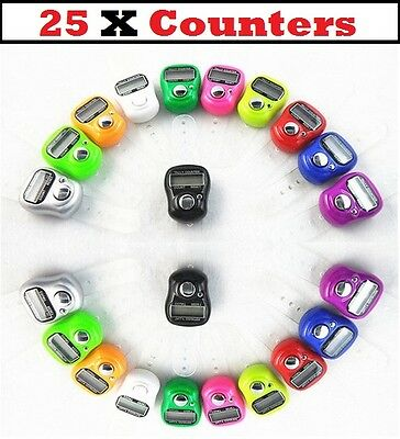 25 x DIGITAL FINGER RING TALLY COUNTER Row counter TASBEEH  JOB LOT Wholesale