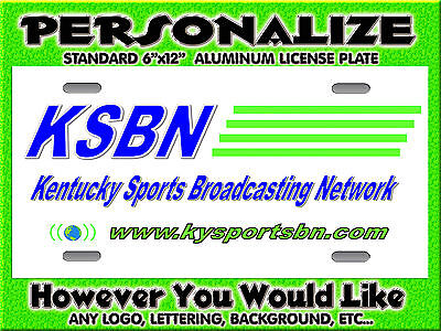 Any Logo Radio Station  Background PERSONALIZED FREE Monogrammed License Plate