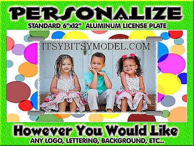 Photo Logo Photography Background PERSONALIZED FREE  Monogrammed License Plate