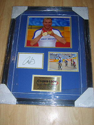 CHRIS HOY Signed Montage  AFTAL