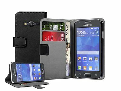 WALLET Leather Flip Case Cover Pouch For Samsung Galaxy Ace 4 SM-G357, SM-G357FZ