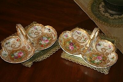 Pair of KPM Porcelain Sweet Meat Dishes 19th Century