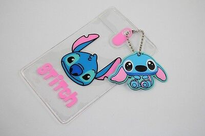 2Pcs Stitch Transparent ID Credit Card Holder,Bus Business Card Holders Pouch
