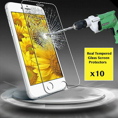 "10 x Premium Real Temper Glass Screen Protector For 4.7"" Apple iPhone 6"