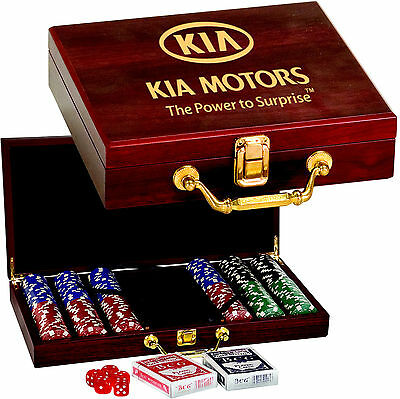 Personalized Poker Chip Set Gift Box Engraved Casino Blackjack  Dice Craps