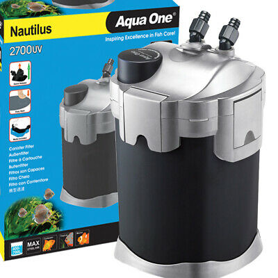 Aqua One Nautilus External Aquarium Fish Tank Canister Filter 2700U 3YR WARRANTY