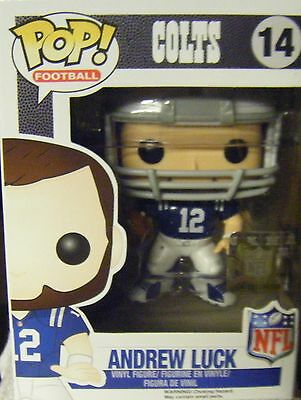BRAND NEW POP NFL FOOTBALL, INDIANAPOLIS COLTS, ANDREW LUCK, & REMOVABLE HELMET
