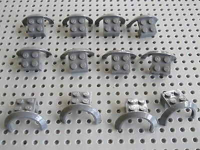 LEGO Blue Vehicle Mudguard 2x4 Arch Studded with Hole Lot of 100 Parts Pieces 60