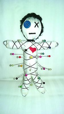 Authentic Voodoo doll real string 7 pins instruction hand made karma new orleans