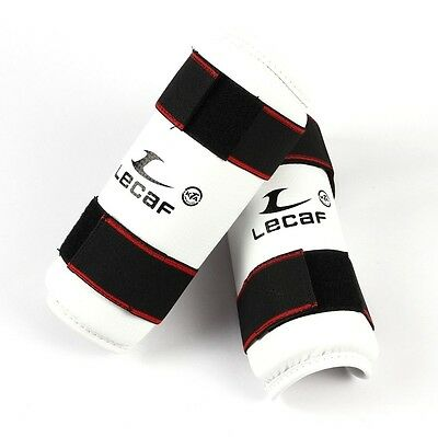 LeCaf Taekwondo Forearm Protectors Guards Sparring Protective Gear White 1 Pair