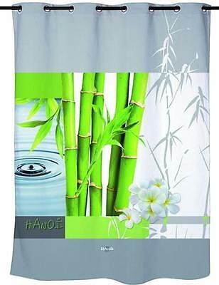 Classic Zen Green Bamboo Water droplets Shower Curtain 180cm X 200cm Polyester