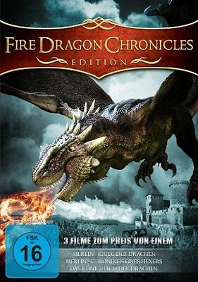 Fire Dragon Chronicles Edition - 3 Filme auf 1 DVD NEU / OVP - Fantasy - Merlin