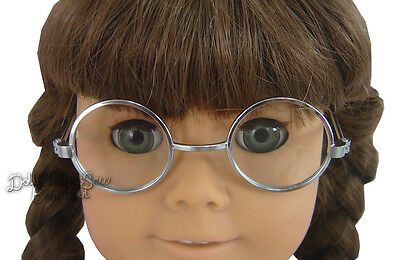 Silver Wire Rim Eye Glasses Made For American Girl Molly Doll Clothes