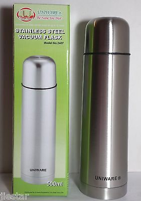 1,2,3,4,Vacuum Insulated Stainless Steel COFFEE,TEA Bottle Thermos 500 ml 16oz