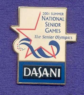Dasani Bottled Drinks Senior Olympics Spnsor Coke Coca-Cola Product Lapel Pin
