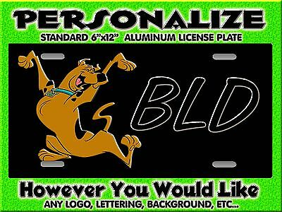 Scooby Doo Background PERSONALIZED FREE Monogrammed License Plate