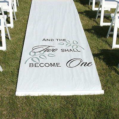 Hortense B Hewitt Two Shall Become One Aisle Runner In White 30045 New