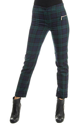 BLUMARINE Woman Wool blend Checked Capri Trousers Sz  40 Italy Made New with Tag