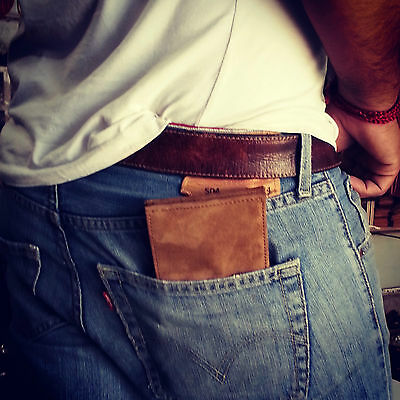 genuine goat Lather Wallet inside also leather Handmade suede leather wallet