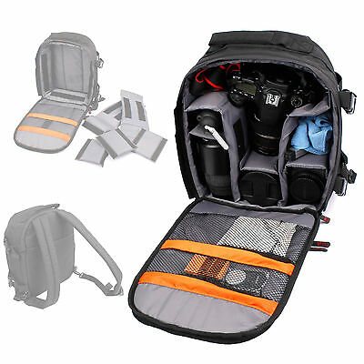 Deluxe DSLR SLR Camera Rucksack Case Bag Backpack For Canon Nikon Sony Olympus