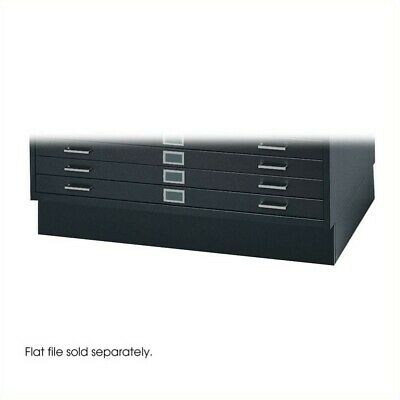 Filing Cabinet File Storage Base for 4994 Flat 5 Drawer in Black by Safco