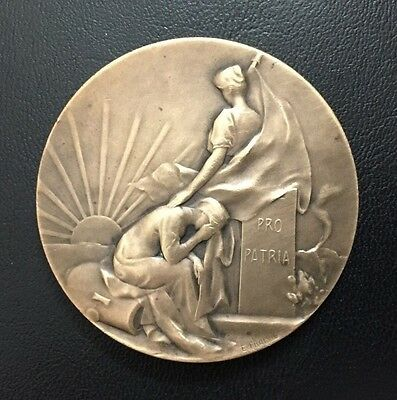 Ww1 Disaster French Commemorative Bronze Medal / M74